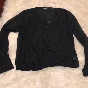 Charlotte Russe black Long sleeve blouse